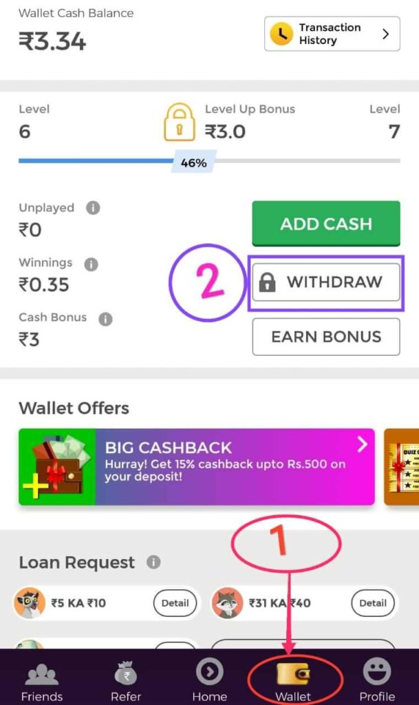 Winzo Gold earn money app