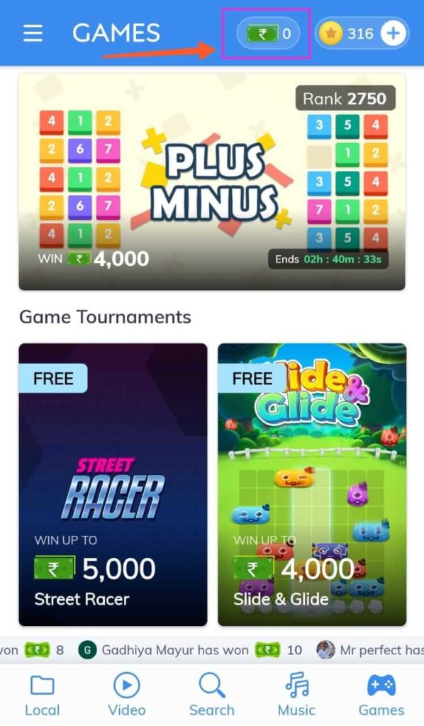 earn money with MX player by playing games