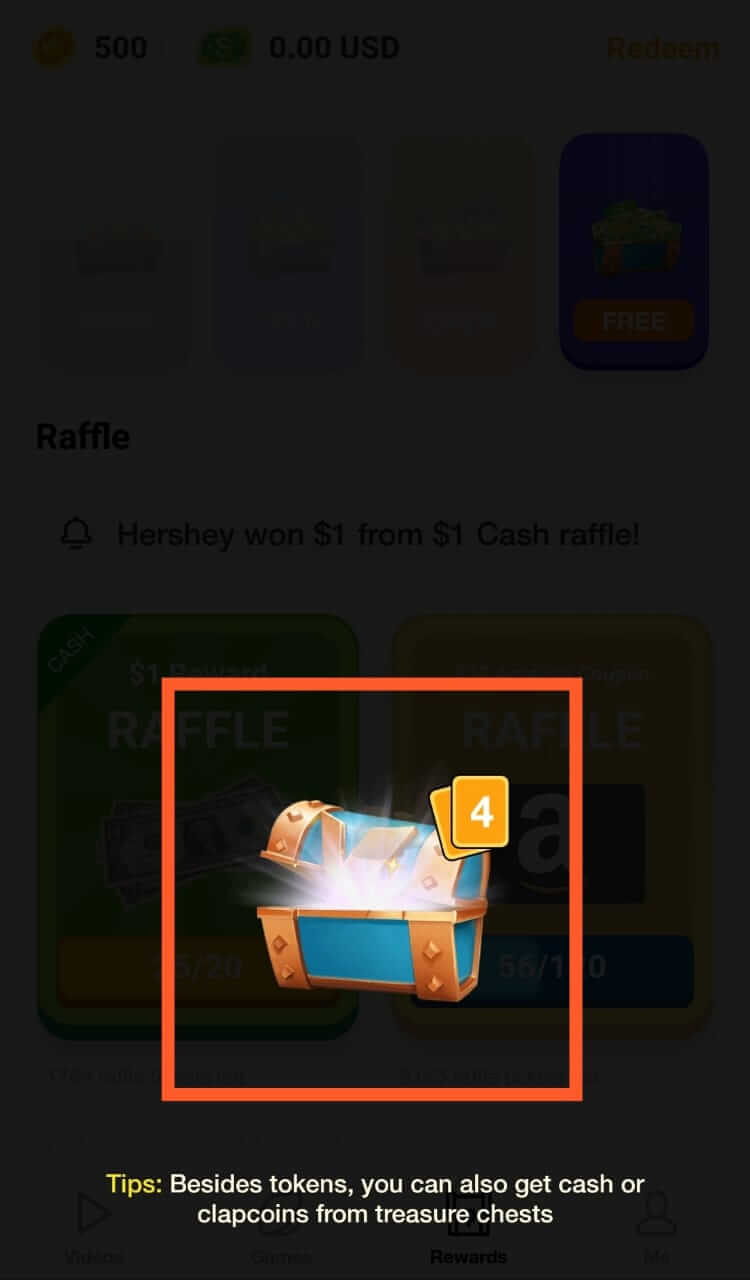 ClipClaps Reward