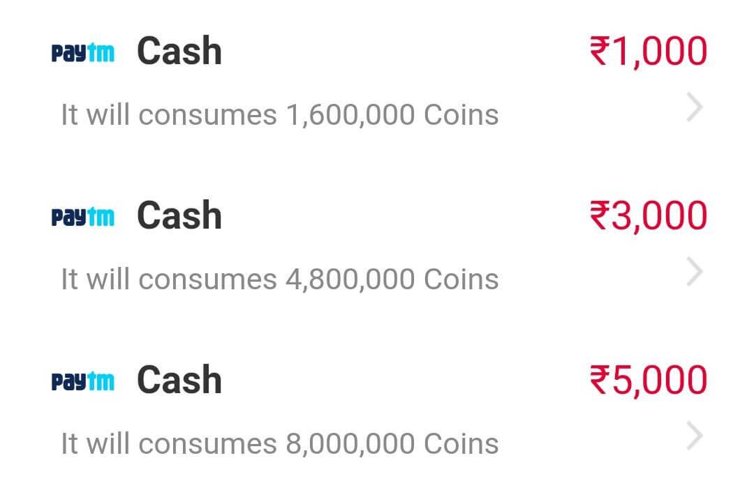 Convert Coins into Paytm cash