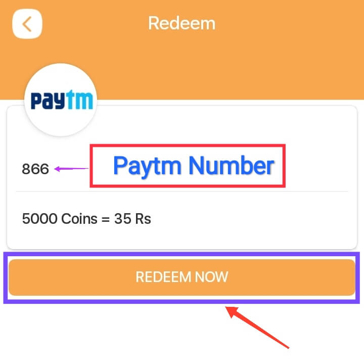 Enter Paytm Number