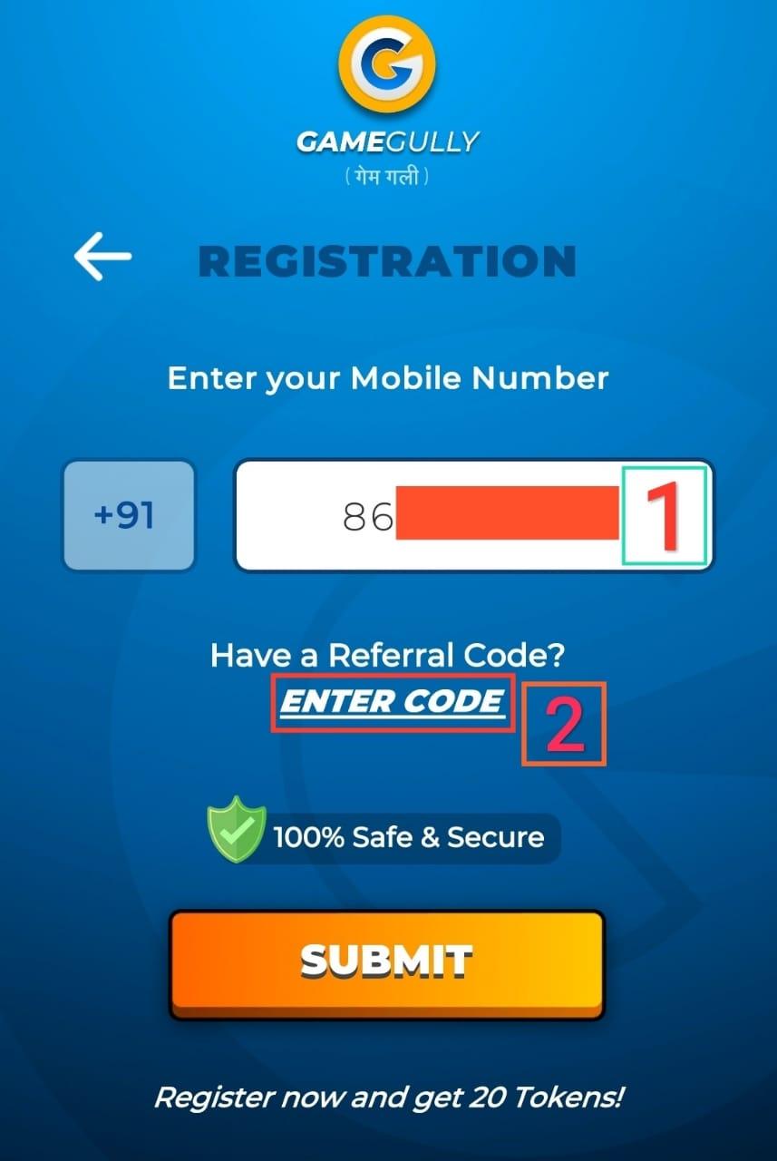Enter Referral Code