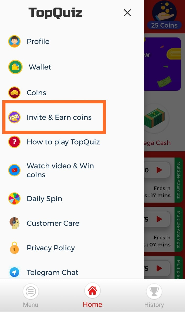 Invite and Earn Coin