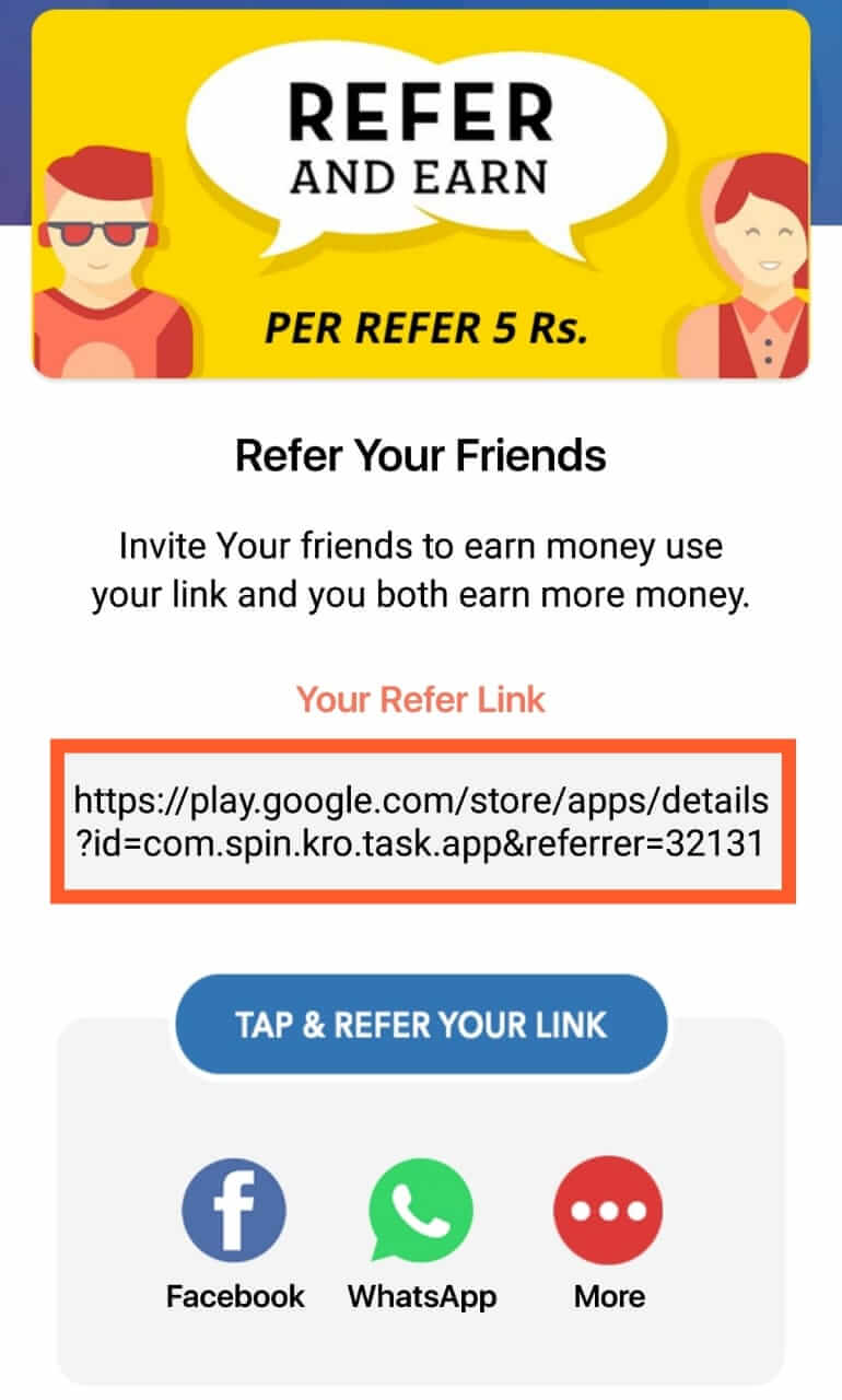 Spin Karo App Referral Link