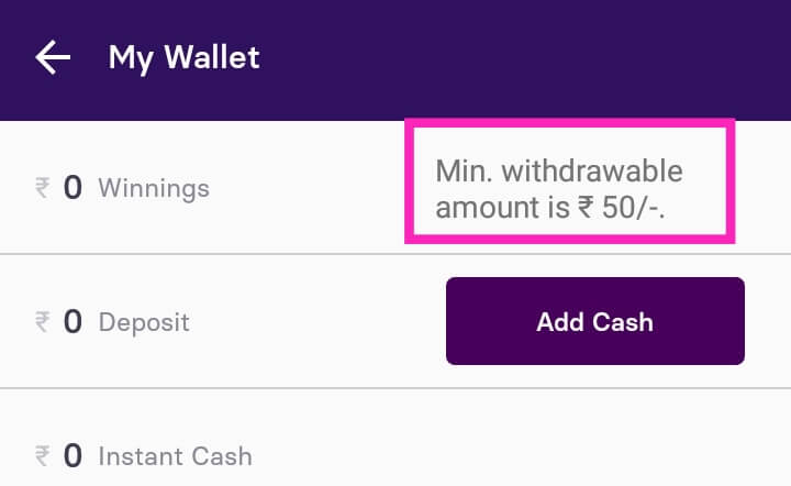 Withdraw Amount