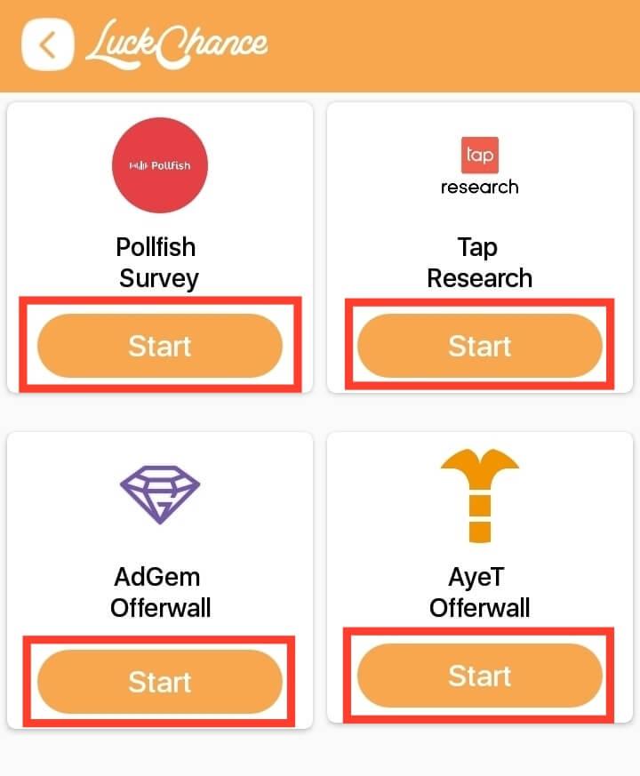 start survey
